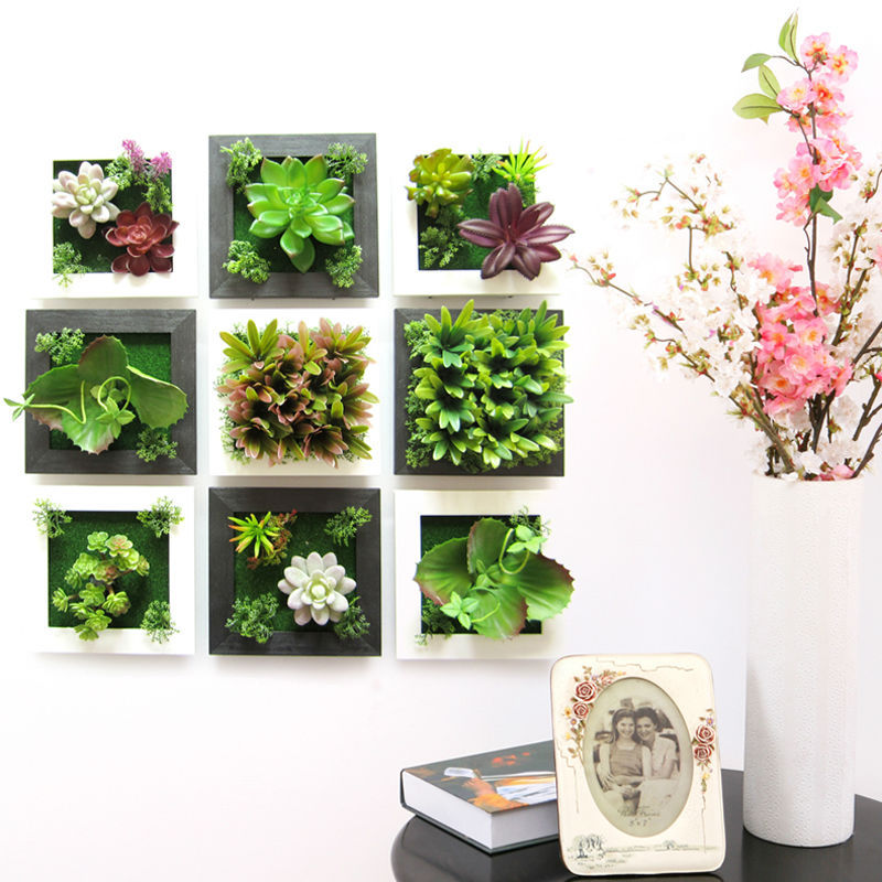 flower wall stickers simulation  small green plants