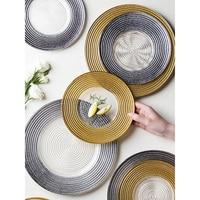 retro glass dinner plates creative dishes and plates sets wedding salad plates 5 stars restaurant plates steak dessert plate