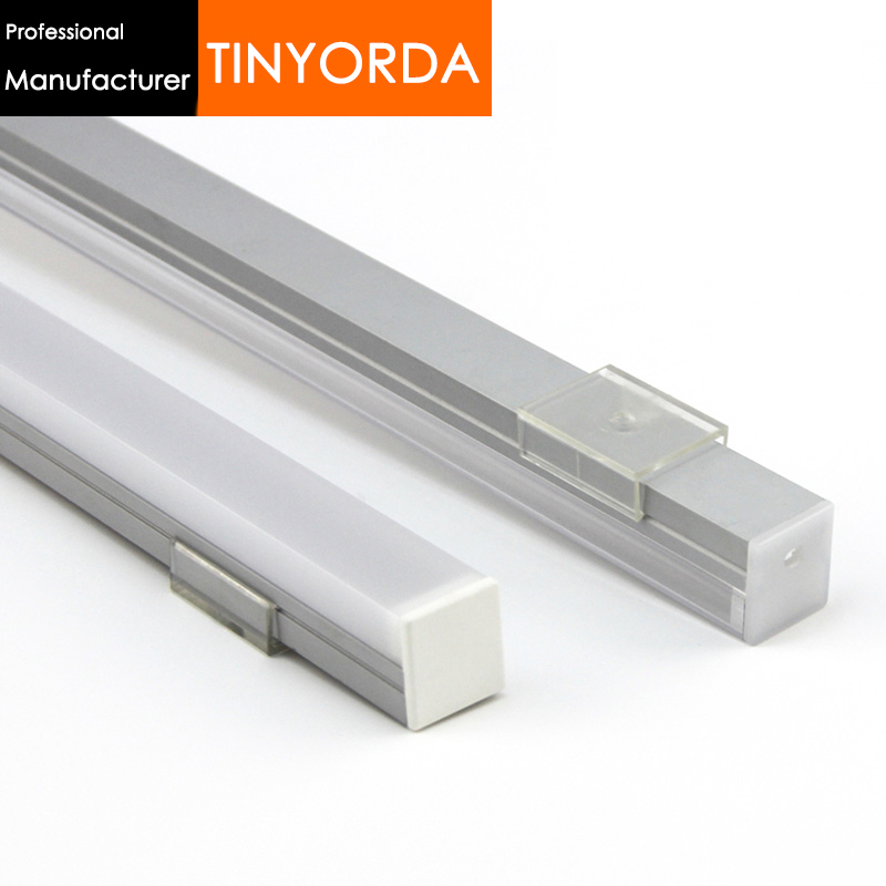 Tinyorda 100Pcs (2M Length) Led Strip Profile Channel Profil for 16mm LED Light [Professional Manufacturer]TAP2016