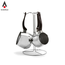 Wulekue 4Pcs Turkish Coffee Decanter Stainless Steel Cook Milk Stovetop Warmer Pot Tools