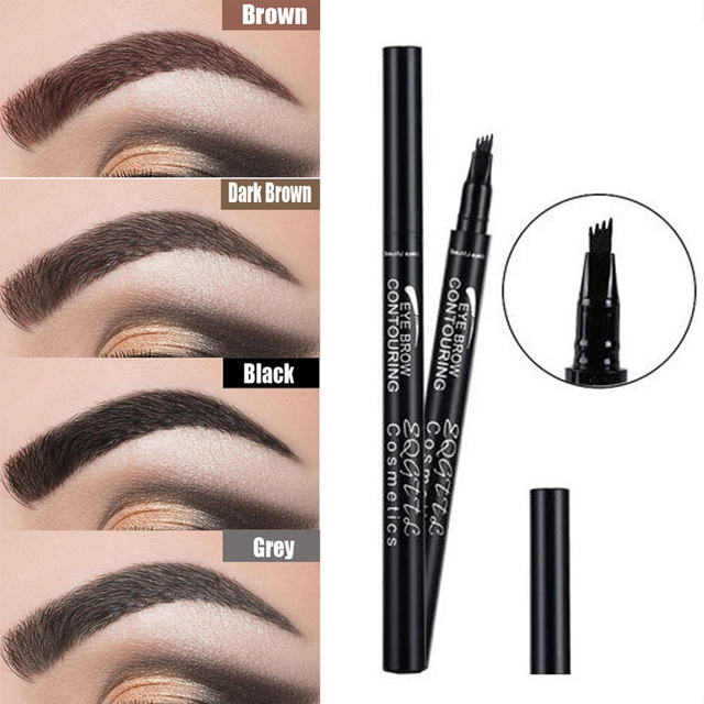 4 Head Makeup Eyebrow Enhancers 5 Colors High-end Automatic Matte Eyebrow Pencil Waterproof Tattoo Pen Long-lasting Cosmetics 1