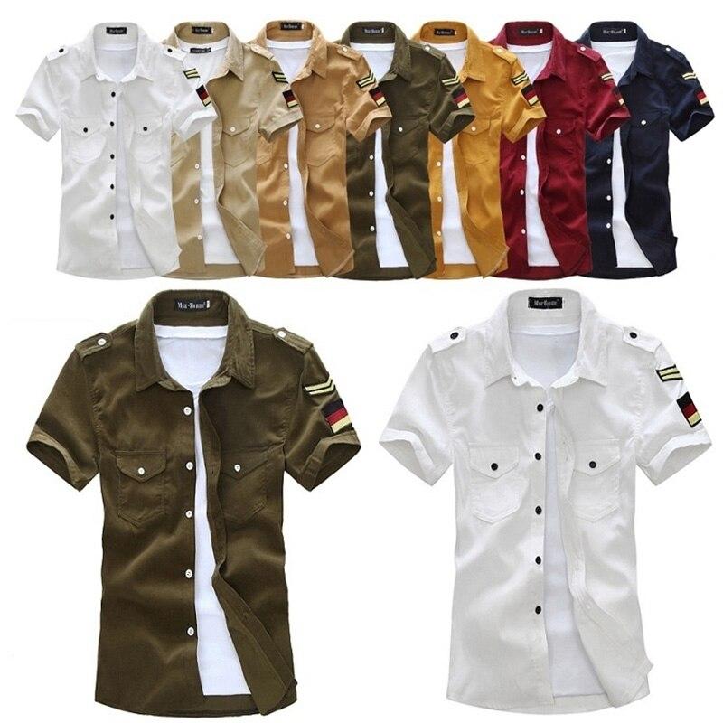 4186801f3d5f097 Zogaa 2019 мужские весенние повседневные топы летние однотонные короткие  воротник-стойка-рукав рубашки мужские платья рубашки с коротким рукав.