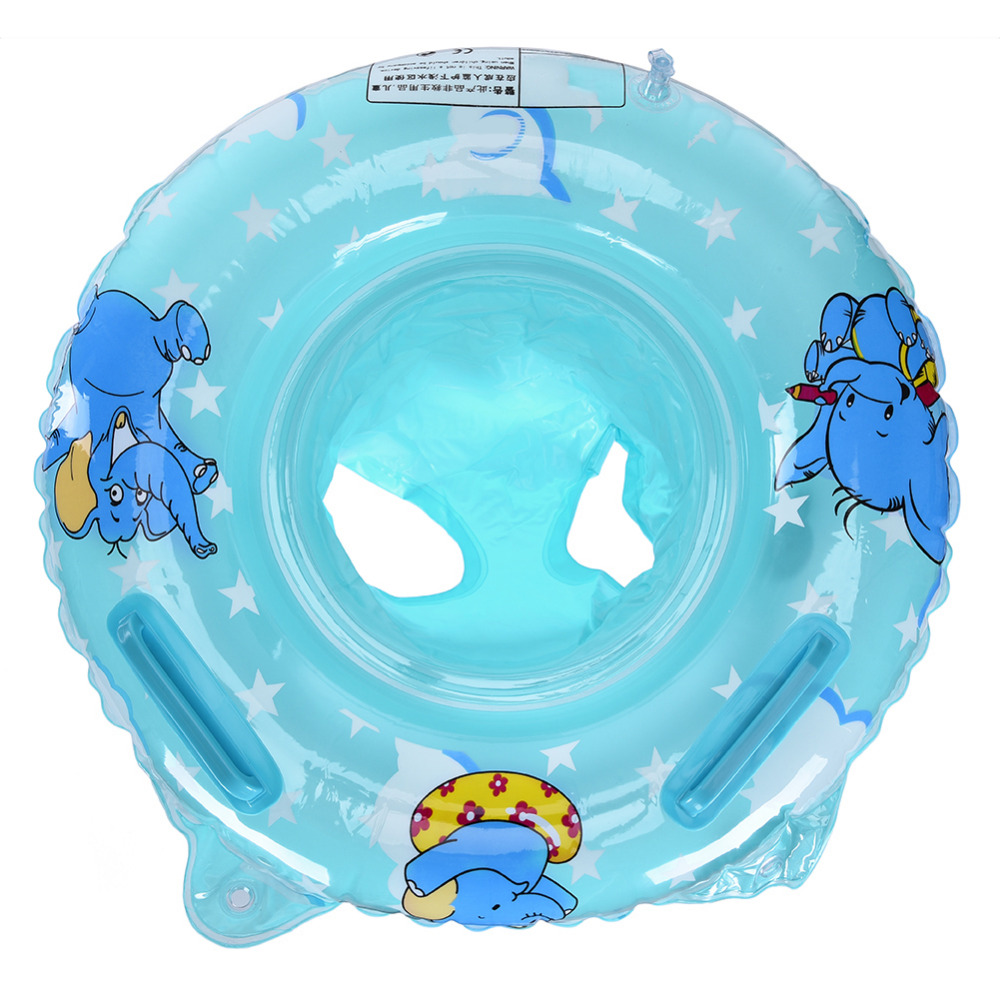 Infant kids swimming pool rings double handle safety baby seat float swim ring inflatable water toys