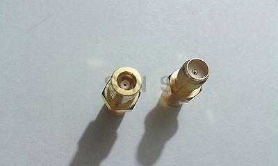 ФОТО 30pcs Gold  SMA Female To SMB female jack Straight RF connectors