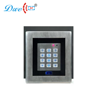 DWE CC RF card reading stainless steel offline standalone access control device