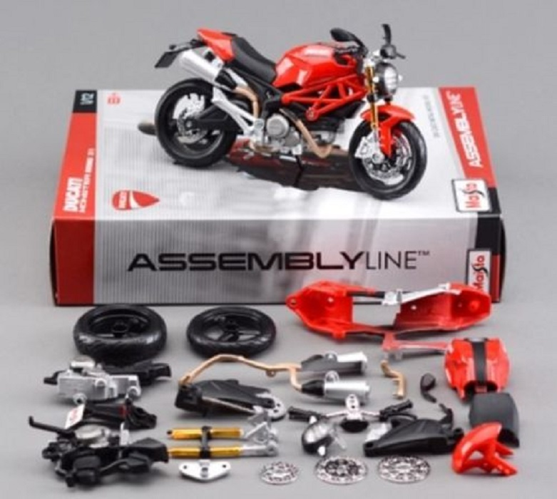Maisto 1:12 Ducati Monster 696 39189 Assembly DIY MOTORCYCLE BIKE Model Kit FREE SHIPPING ...