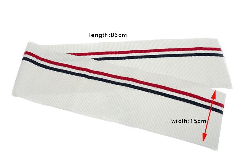 2 unids 15*85 cm espesar strecth rayas patrón punto costilla Telas ...