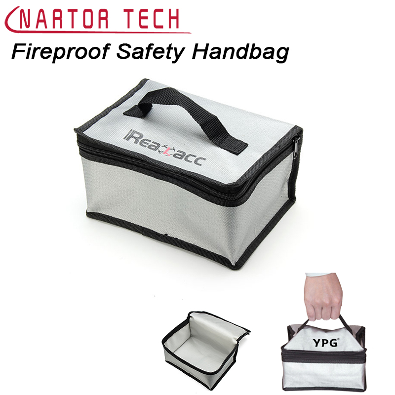 Nartor Fireproof LiPo Battery Safety Carrying Case Bag Box Handbag Safe Guard Fire Retardant With Handle Free Shipping realacc fire retardant lipo battery bag 220x155x115mm with handle