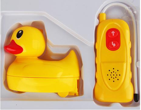 Bebés y niños pequeños que juegan en los juguetes de agua anfibio grande pato amarillo juguetes de control remoto eléctrico a prueba de agua