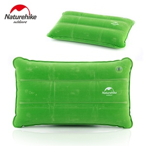 Image 1 - Naturehike Outdoor Inflatable Camping Mat Sleeping Pillow Folding Non slip Suede Fabric Mat for Camping & Hiking
