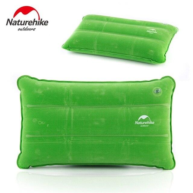 Надувной туристический коврик Naturehike, Подушка для сна, складной нескользящий, из замши, для отдыха на открытом воздухе, походов