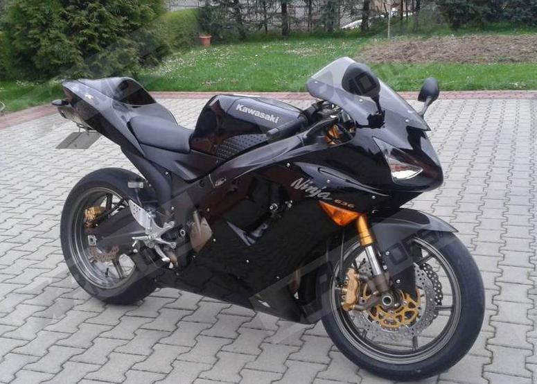 Neue Abs Kunststoff Fur Kawasaki Ninja ZX 6R 636 2003 2004 Soziusabdeckung Verkleidung Gugel Schwarz In