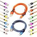 Brankbass 15 cm/1 m/2 m/3 m micro usb cable de sincronización de datos del cargador usb cable de la cuerda de nylon para samsung/htc/lg teléfono android/tablet pc