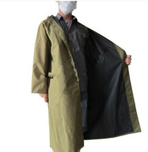 Working Raincoat poncho thickening with sleeves one piece raincoat thickening Burberry