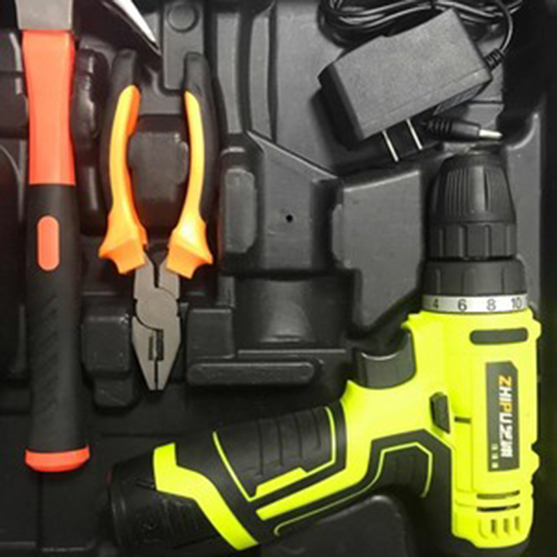 12 V Cordless Drill Electric Screwdriver Lithium-Ion Power Driver Variable Speed with LED Light