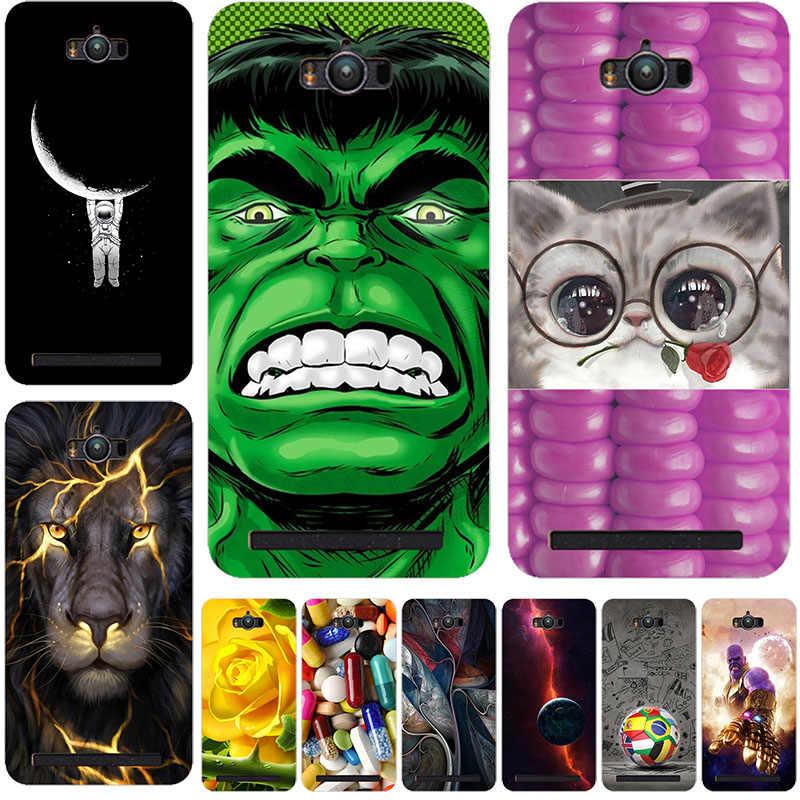 """الهاتف عودة حقيبة الأزياء الحيوان القط جراب إيسوز Zenfone ماكس ZC550KL Z010D 5.5 """"الحالات Fundas كابا ل ASUS ZC550KL جراب هاتف"""