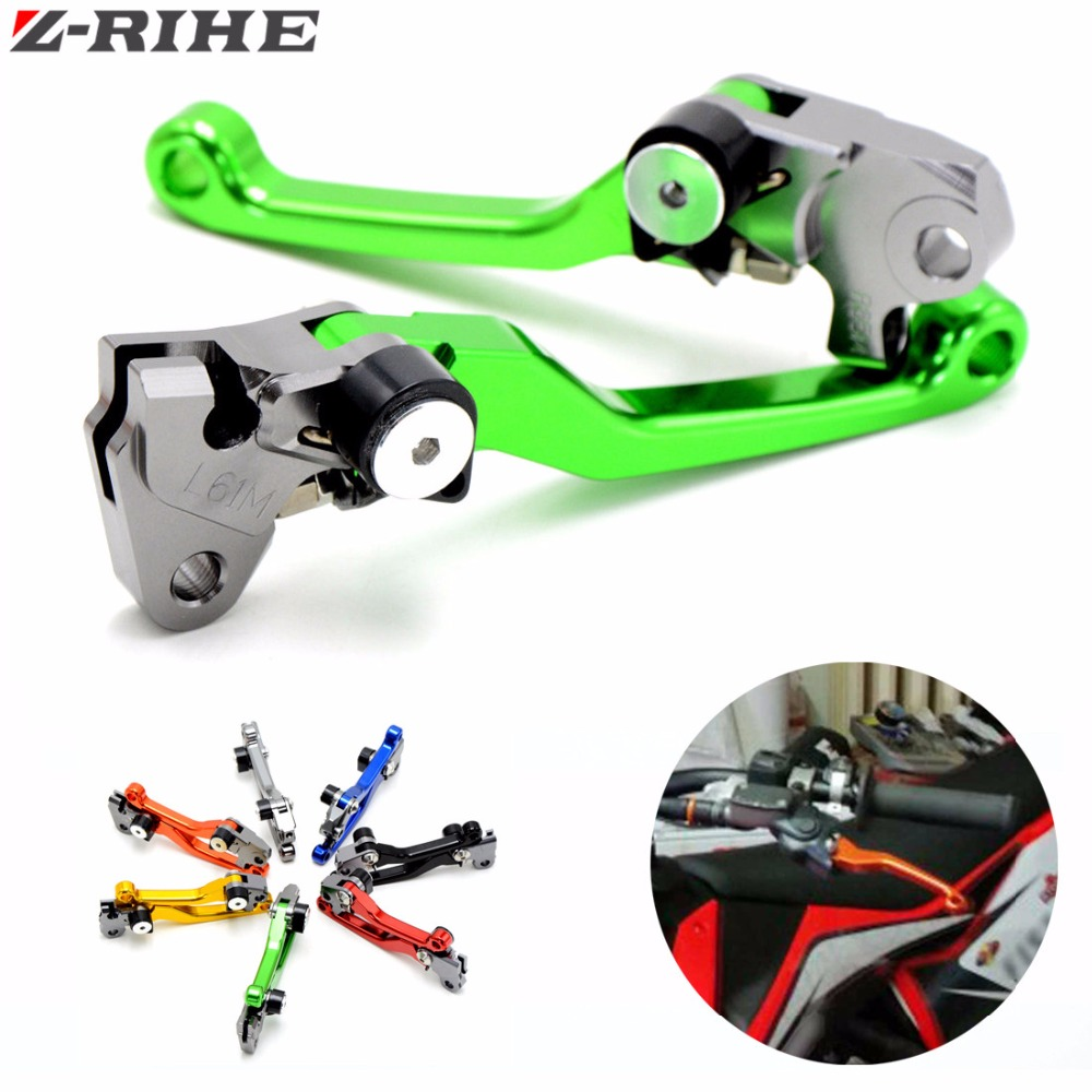 цены CNC Pivot Foldable Clutch Brake Lever For Kawasaki KX250F KX450F 2013 2014 2015 2016 2017 Supermoto Dirt Bike Off Road Motocross