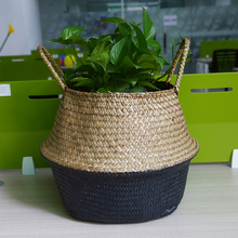 Здесь можно купить   WHISM Laundry Basket Seagrass Nursery Pots Storage Basket Rattan Garden Green Plant Pot Vase Flower Home Decoration Home Storage & Organization