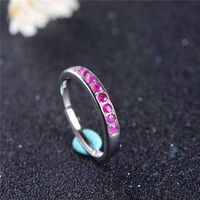 925 Sterling Silver Ruby Ring for Women's Birthday Gift Natural Gemstone