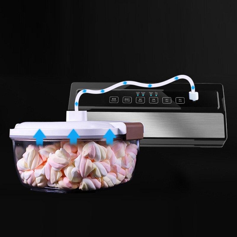 220 V 110 W Vide machine à sceller La Maison Meilleur emballage sous vide Frais machine d'emballage économiseur de nourriture emballeur sous vide Comprennent 5 pièces Sacs Livraison - 5