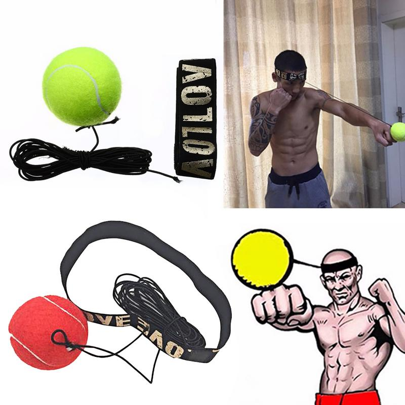 New Fight Box Boxing Fight Speed Ball Speedball Reflex Speed Training Boxing Punch Muay Thai Exercise Equipment Yellow/Red