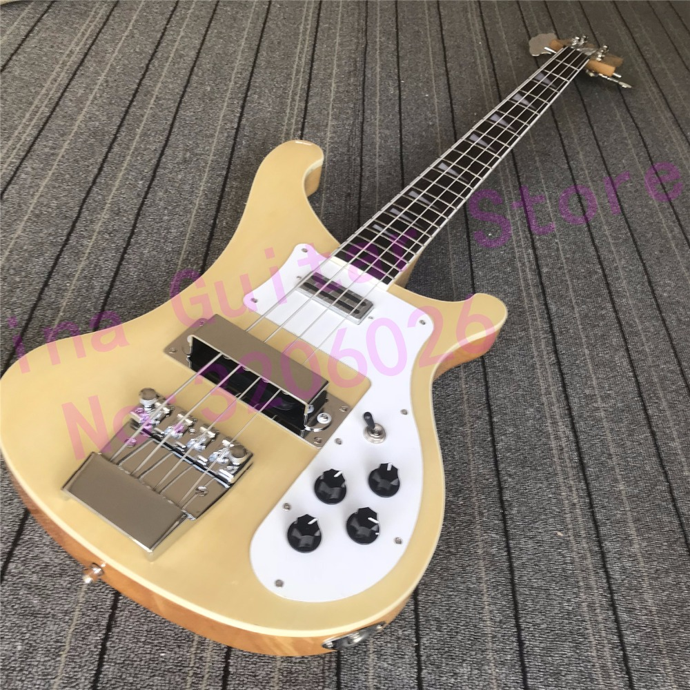 top quality 4003 bass guitar in natural color korean accessories single output free shipping in. Black Bedroom Furniture Sets. Home Design Ideas