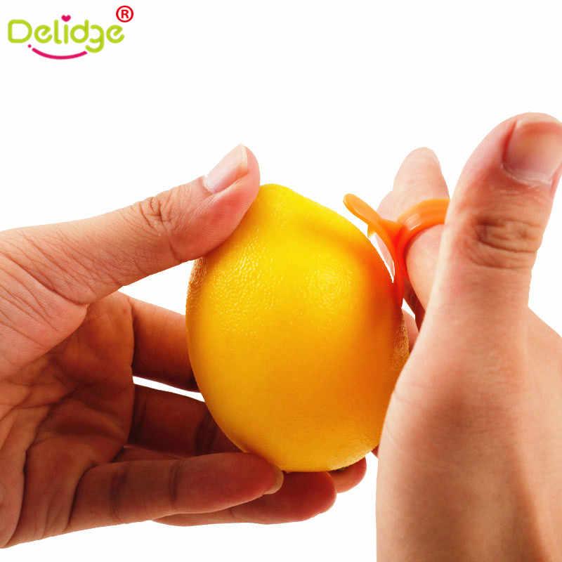 Delidge 9 pçs/lote Citrus Laranja Limão Peeler Parer Peeler Removedor-Ferramentas Da Cozinha Dispositivo de Abertura de Laranja Descascador de Laranja
