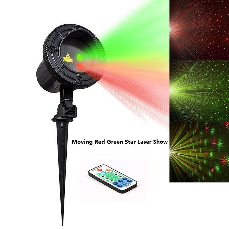 Star laser christmas light projector show red green ip65 waterproof outdoor laser light for xmas - Outdoor laser light show ...