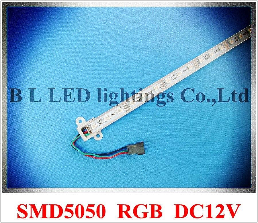 SMD 5050 RGB LED rigid strip light 5050 RGB LED light bar LED counter light cabinet light lamp 60 led 100cm DC12V