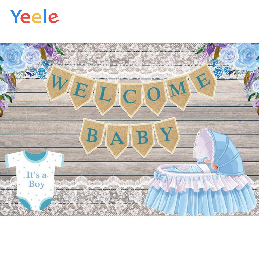 Yeele Baby Shower New Birth Photocall Cute Welcome Photography Backdrops Personalized Photographic Backgrounds For Photo Studio in Background from Consumer Electronics