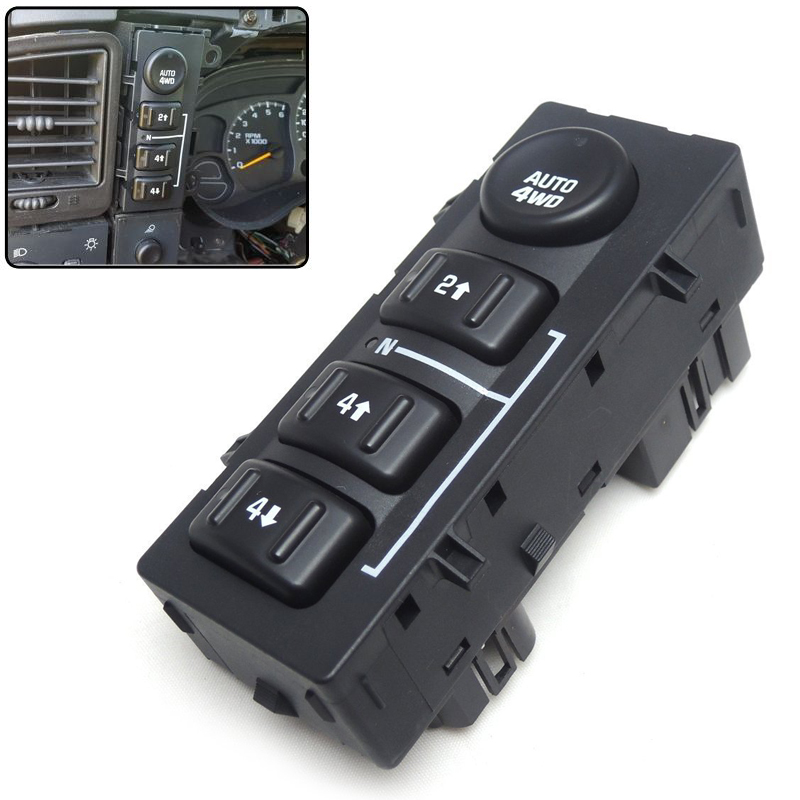 4WD 4x4 Transfer Case Selector Dash Switch for Chevrolet Tahoe Suburban Avalanche Silverado for GMC Sierra Cadillac 15136039