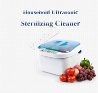 Househould Ultrasonic Vegetable Washer Automatic Ultrasonic Sterilizing Cleaner Fruit/Dish/Meat Cleaning Machine KD 6001