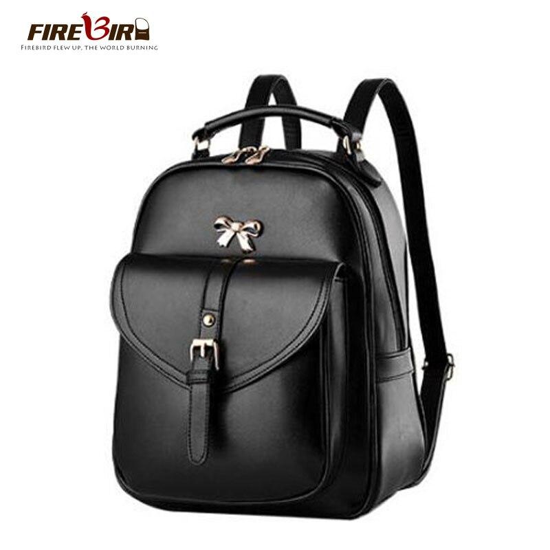 FIREBIRD! 2017 New Listing women backpack high quality leather backpack Girl mini back pack schoolbag Black HN03