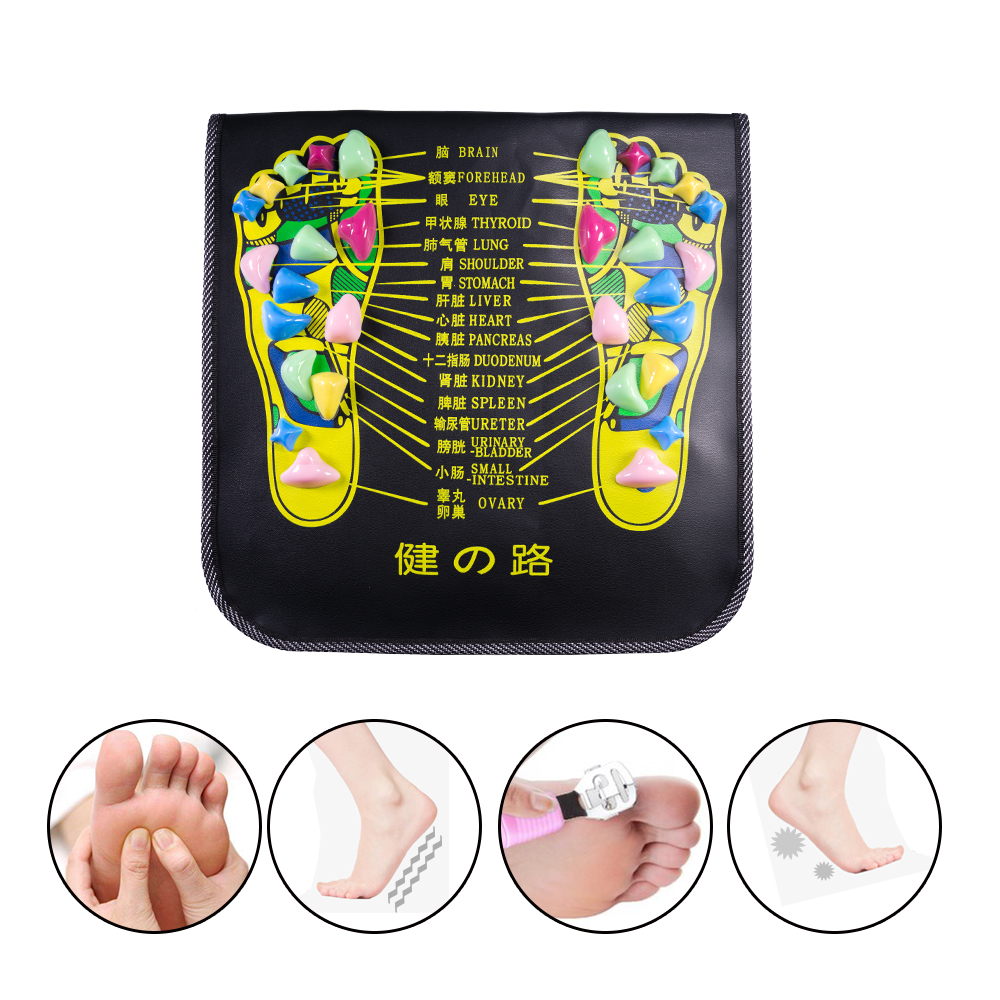 Reflexology Walk Stone Foot Leg Pain Relieve Relief Walk Massager Mat Health Care Acupressure Mat Pad Massageador C1419 reflexology walk cobblestone pain relief foot massager tcm foot acupoint massage relax mat pad square cushion beauty health care