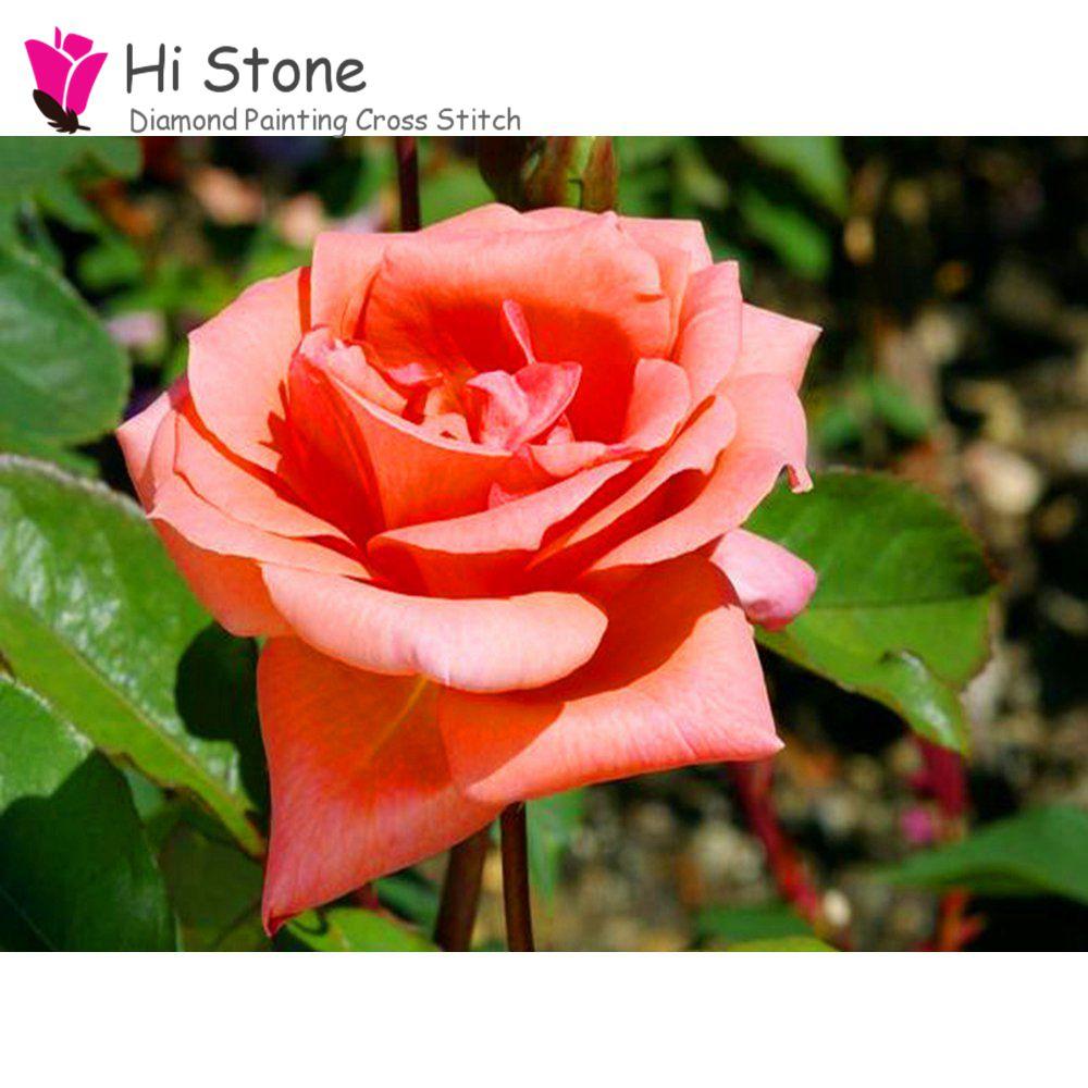 DIY алмаз вышивка полный квадрат смолы дрель розовая роза мозаики картина стразы кристаллы украшения дома подарок