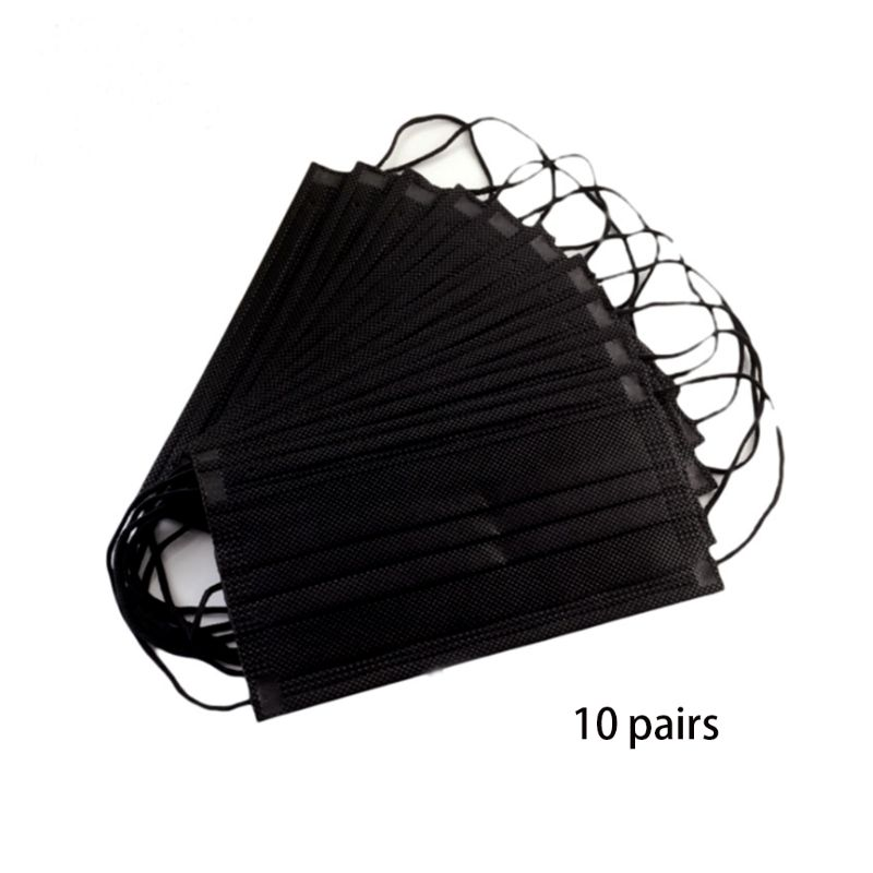 10Pcs Disposable 4 Layers Mouth Mask Activated Carbon Filter PM2.5 Dustproof Anti Pollution Surgical Medical Earloop Respirator