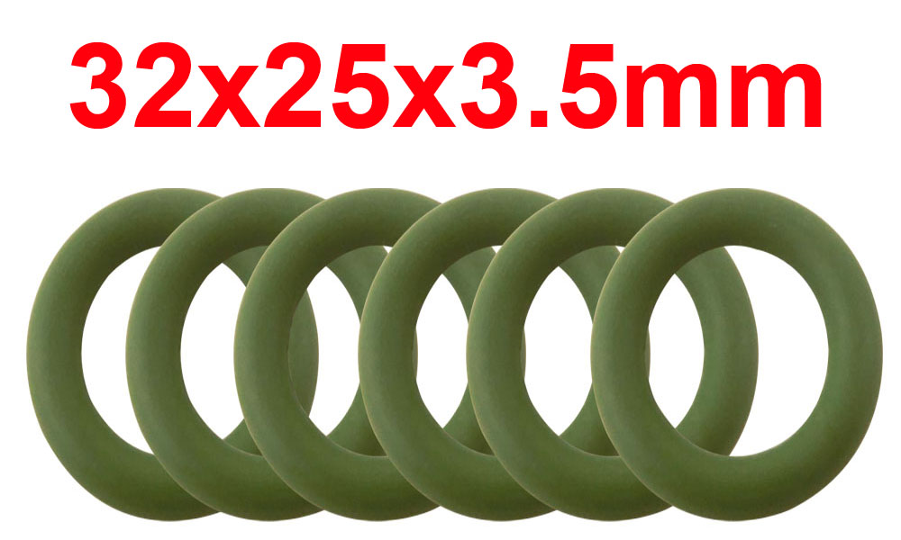 20pcs 3.5mm Thickness Green FKM O Ring Seals Gasket 23//24//25//26//27//28//29//30//31//32//33mm OD Fluorine Rubber O-Ring Seals Size : 32x25x3.5mm