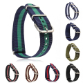 1pc 20mm Nylon belt Watch Band strap Pin mental buckle Casual Man Charged soft comfortable high quality durable universal H4