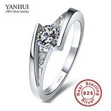 Послал серебро! роскошных сертификат карат алмазов обручальные cz серебро чистый кольца