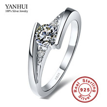 Despatched Certificates of Silver!!! 100% Pure 925 Sterling Silver Ring Set Luxurious zero.75 Carat CZ Diamond Marriage ceremony Rings for Girls JZR004