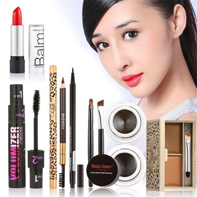 Super Luxury combination Brand Cosmetic Tools 6 sets makeup comb kit eyebrow makeup lipstick mascara eyeliner pen make up set