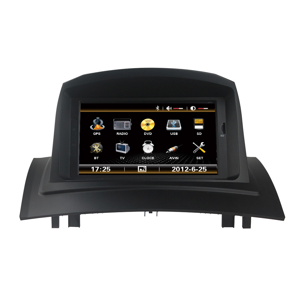 free shipping car dvd player gps headunit sat nav for renault megane 2 2002 2008 with wifi. Black Bedroom Furniture Sets. Home Design Ideas