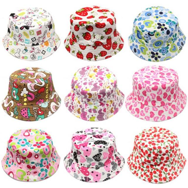 Ngoài trời Trẻ Em Floral Bucket Hat Panama cap Dễ Thương Bông Cô Gái Chàng Trai Mùa Hè Mũ Bãi Biển Nắp Ngư Dân