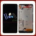 Для Microsoft Nokia Lumia 640 ЖК-Дисплей с Сенсорным Экраном Дигитайзер Ассамблеи с Рамкой Черный + Инструменты Бесплатная Доставка