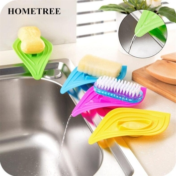 HOMETREE Colorful Leaf-Shaped Antiskid Soap Dish Soap Kitchen Tools Bathroom Gadgets Holder Hanging Storage Box Bathroom Set H61