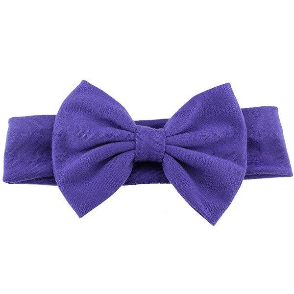 Новинка года; хлопковая эластичная однотонная повязка на голову с бантом для новорожденных девочек; Детская повязка для волос; повязка на голову для младенцев; Бандо; bebe - Цвет: 6
