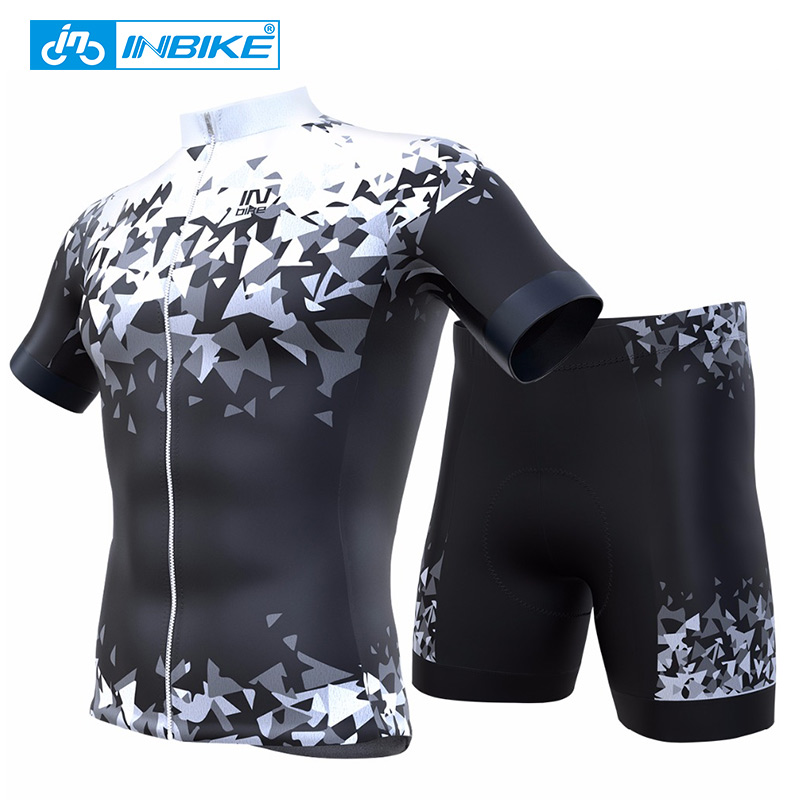 INBIKE Summer Cycling Jersey Sets Gel Padded Bike Shorts Breathable Cycling Clothing Maillot Ciclismo G05