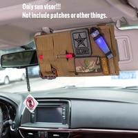 OneTigris Multi-pocket Visor Panel Car Sun Visor Organizer CD Bag Auto Accessories For Travel Kits 5