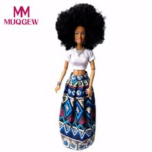 MUQGEW Funny Baby Kid Toy 2018 Fashion Casual Movable Joint African Doll Toy Black Doll Best Gift Toy(China)