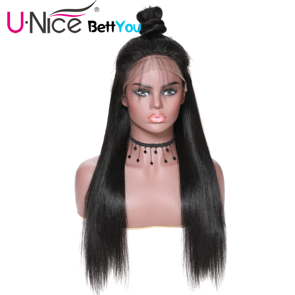 Unice Hair Straight Lace Front Human Hair Wigs 13x6 Long Short Bob Swiss Lace Frontal Wig
